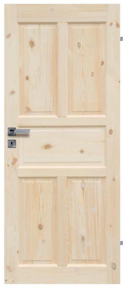 Skrzydło drzwiowe drewniane pełne Londyn Lux 90 Prawe Radex
