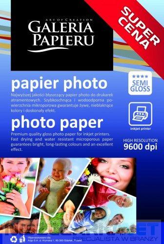 Papier photo glossy 10x15cm 240 g/m2 - 50 ark fotograficzny błyszczący