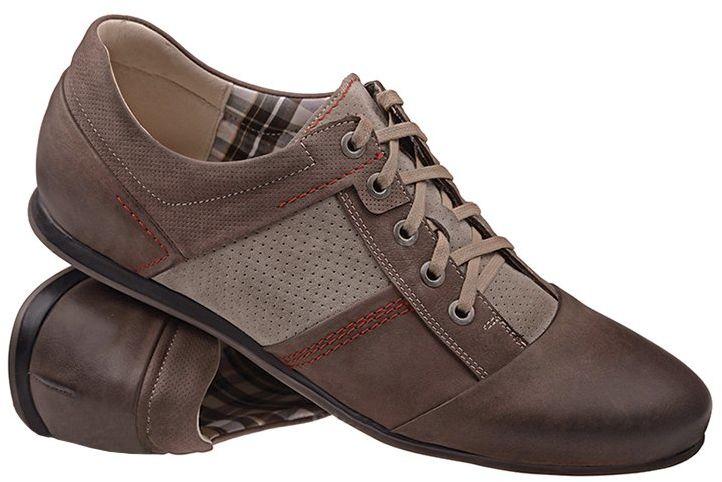 Półbuty NIK 03-0412-001 Brązowe Casual Sneakersy męskie