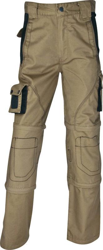 Spodnie robocze 3w1 do pasa, spodenki, rybaczki MSPAN