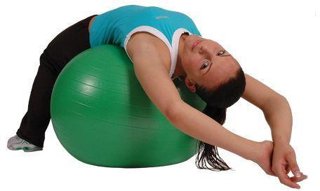 Piłka rehabilitacyjna o dużej wytrzymałości 350KG - ABS 65cm +POMPKA +PLAKAT (mambo msd 65)