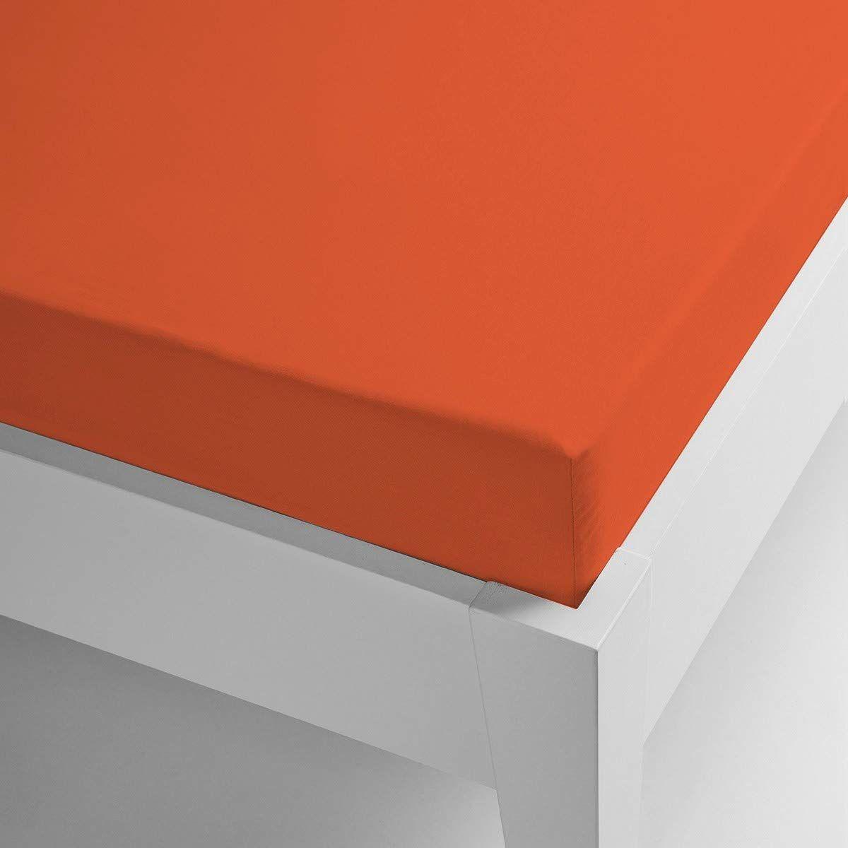 Miracle dom mikrofibra termiczna prześcieradło Coral gładkie kolory 90 x 200 pomarańczowy
