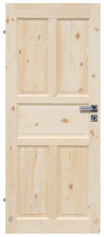 Skrzydło drzwiowe drewniane pełne Londyn Lux 90 Lewe Radex