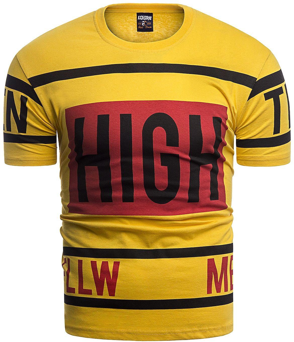 Męska koszulka t-shirt 2090 - żółta