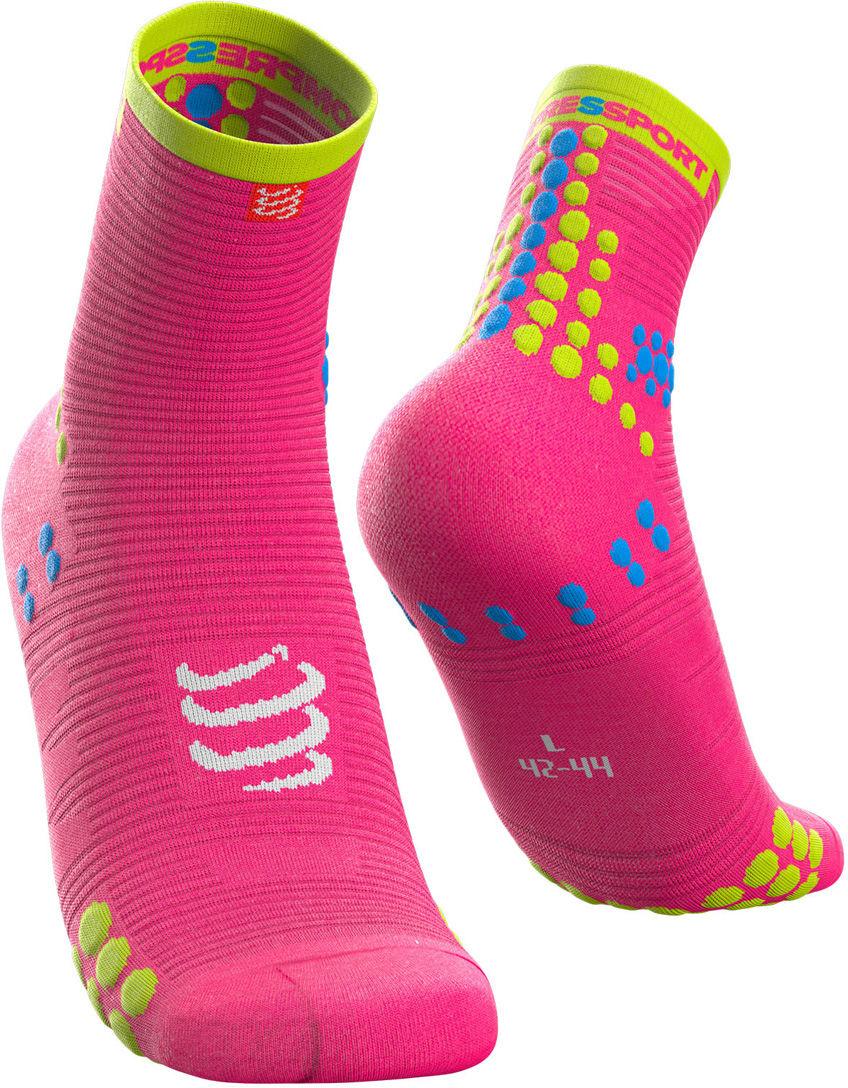 Kompresyjne skarpety biegowe Racing Socks V3.0 Run Hi Fluo Pink