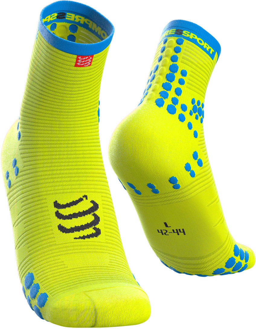 Kompresyjne skarpety biegowe Racing Socks V3.0 Run Hi Fluo Yellow