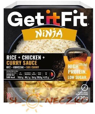 Ryż z kurczakiem i sosem curry 420g GETITFIT