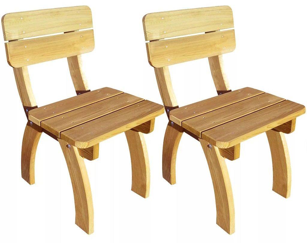 Zestaw drewnianych krzeseł ogrodowych - Darco