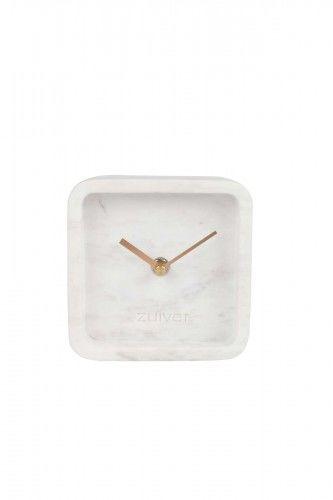 Zegar Luxury Time marmurowy biały