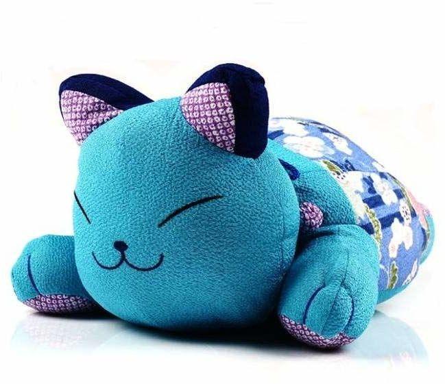 Kawai japoński kot niebieski