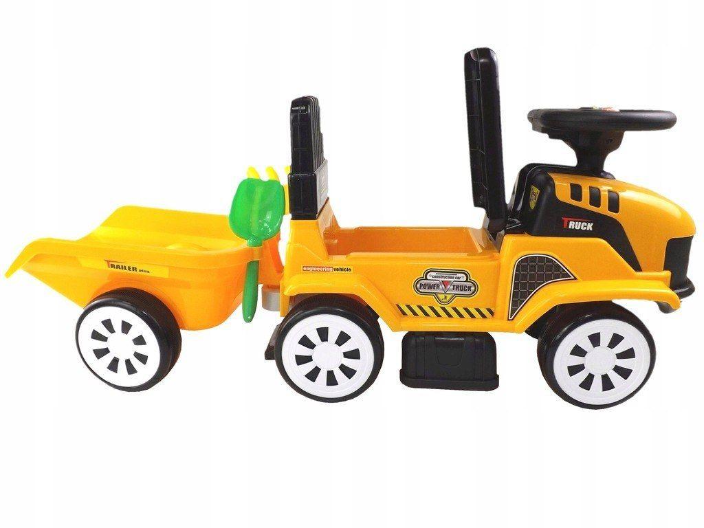 Jeździk traktor przyczepa klocki 12 melodyjek 917A
