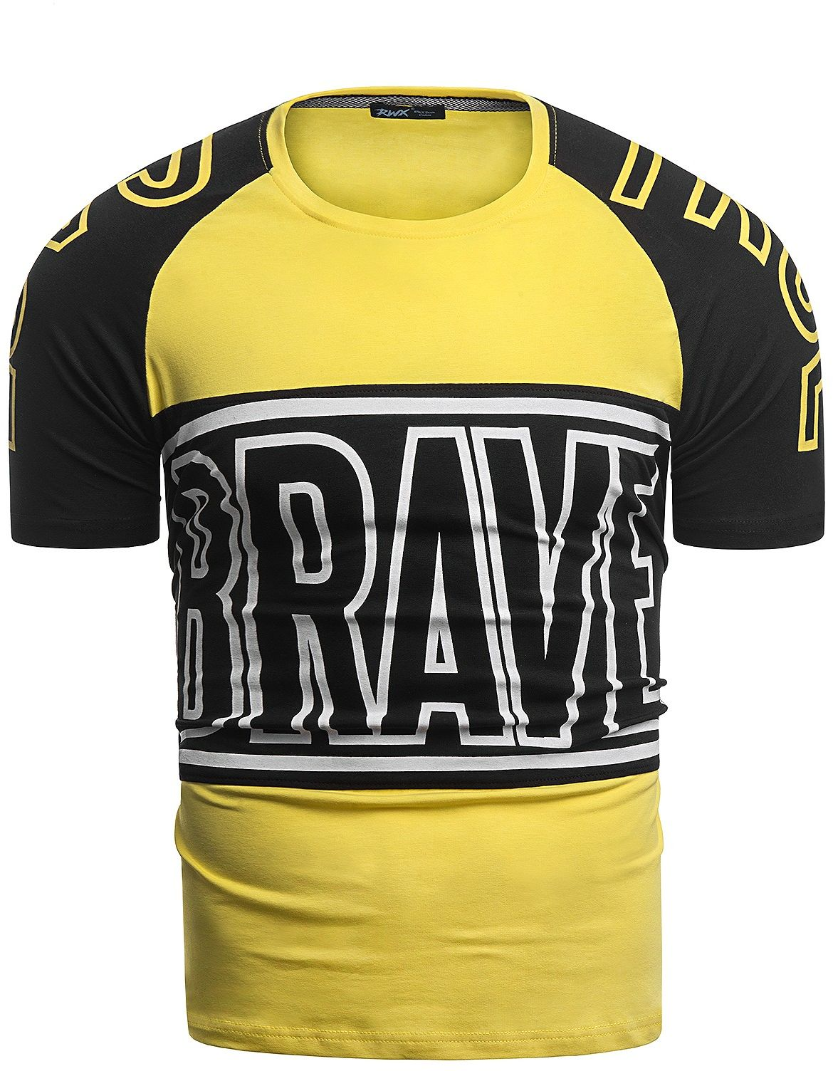 Męska koszulka t-shirt 2070 - żółta