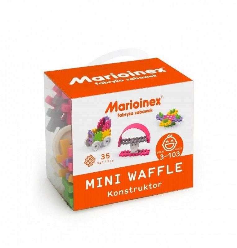 Klocki waffle mini 35 sztuk dziewczynka