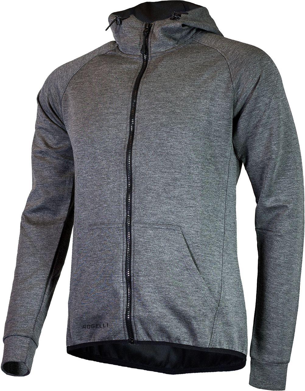 ROGELLI bluza męska z kapturem TRENING grey Rozmiar: 2XL,050.600.XL