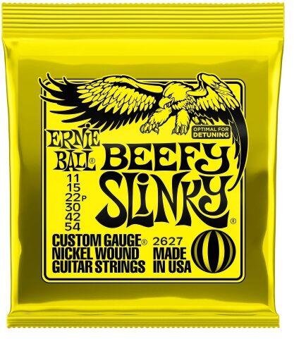 Ernie Ball 2627 Beefy Slinky struny do gitary elektrycznej 11-54