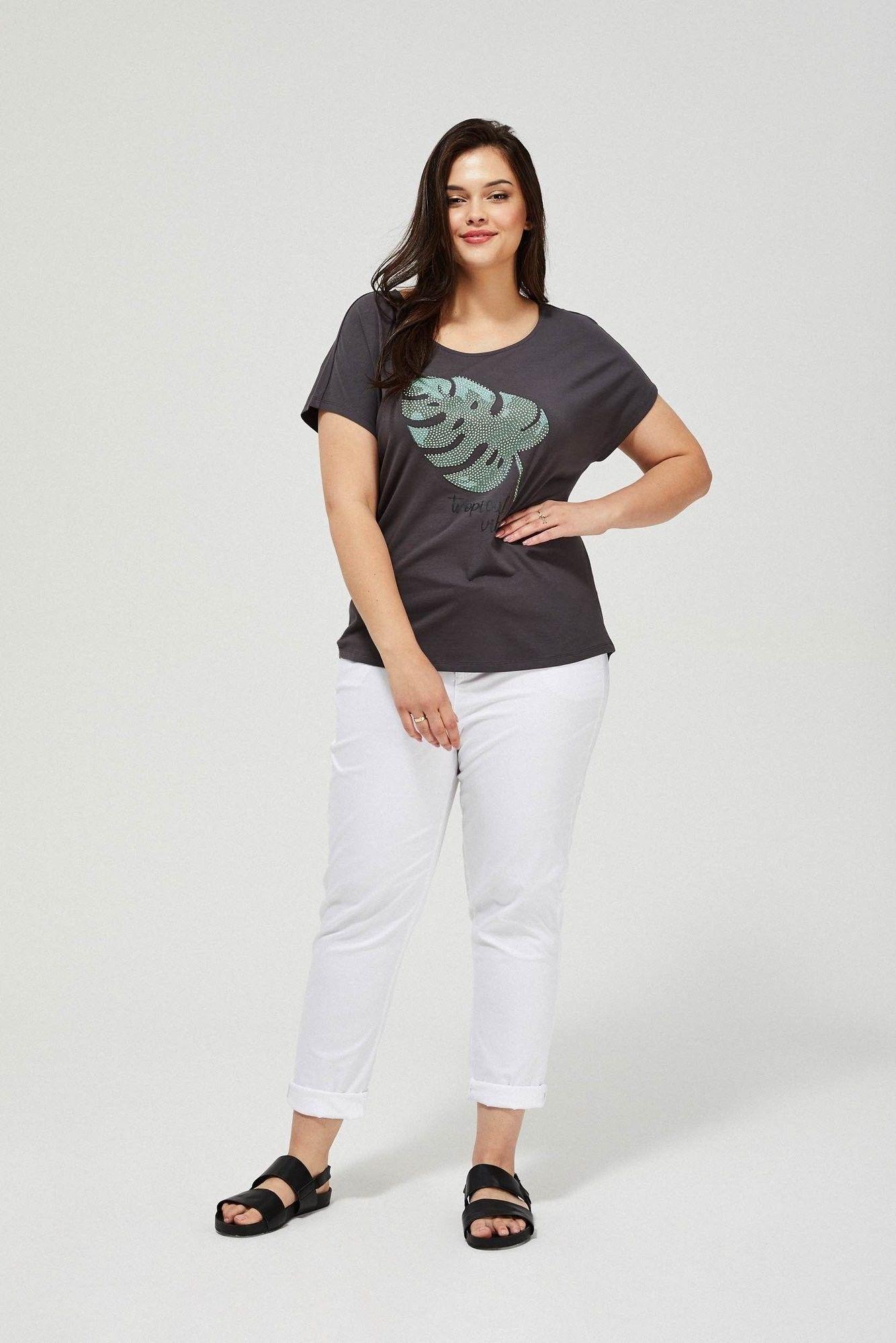 Bawełniany t-shirt z cekinami