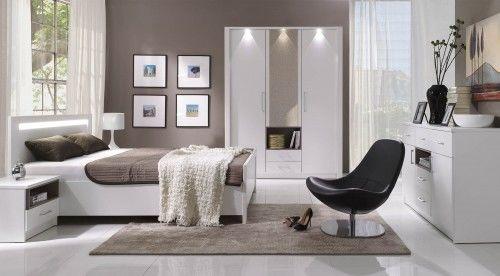 Sypialnia NEW YORK łóżko z oświetleniem LED