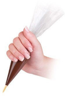 Zestaw 5 Rękawów Cukierniczych 30 cm + Dysze Delicia Tescoma Rękaw Cukierniczy Rolka