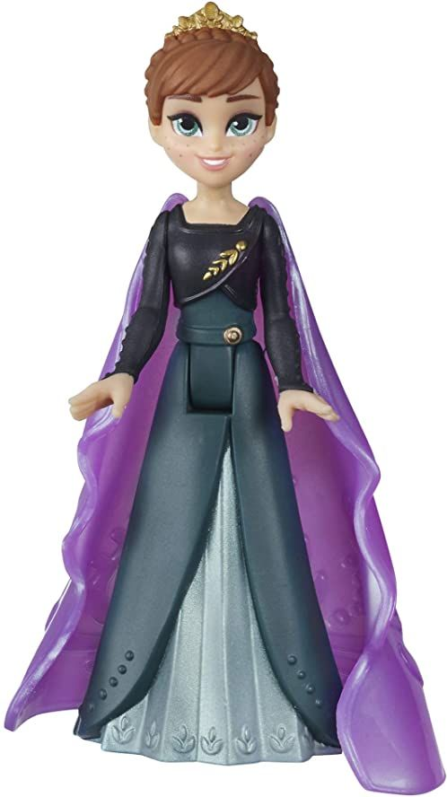 Disney Królowa lodu Anna mała lalka ze zdejmowaną peleryną, inspirowana królową lodu 2, zabawka dla dzieci od 3 lat
