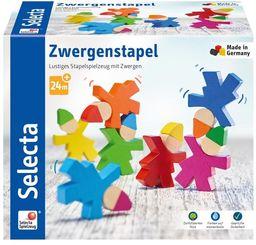 Selecta 62039 Zwergenstapel, zabawka do układania z drewna, 7 szt.