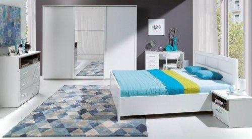 Sypialnia NEW YORK łóżko z tapicerowanym wezgłowiem
