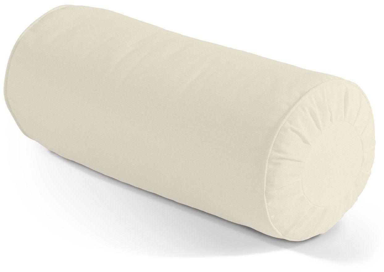 Poduszka wałek z zakładkami, satynowa biel, Ø20  50 cm, Comics