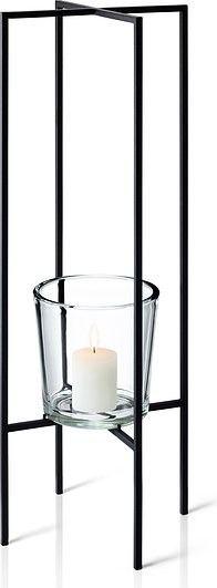 Świecznik wolnostojący na 1 świecę nero