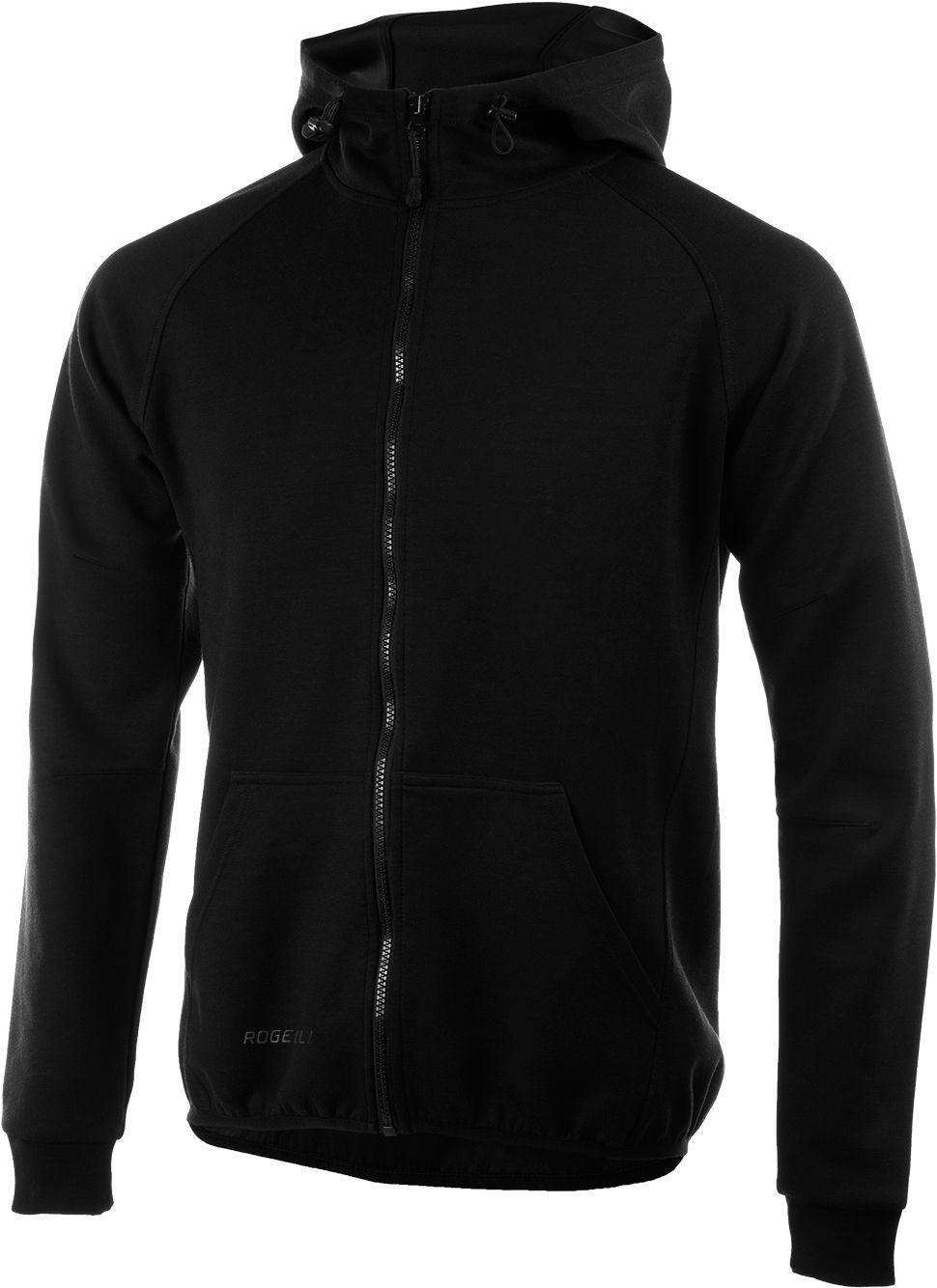 ROGELLI bluza męska z kapturem TRENING czarna Rozmiar: 2XL,050.601.XL