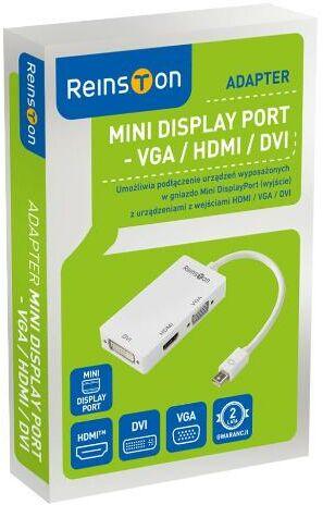 Reinston EDV009 mini DisplayPort na HDMI, VGA, DVI - szybka wysyłka!