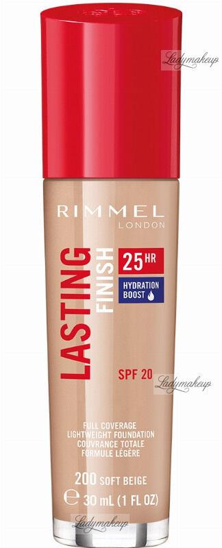 RIMMEL - LASTING FINISH 25HR - Podkład długotrwały z efektem nawilżenia - 30 ml - 200 - SOFT BEIGE