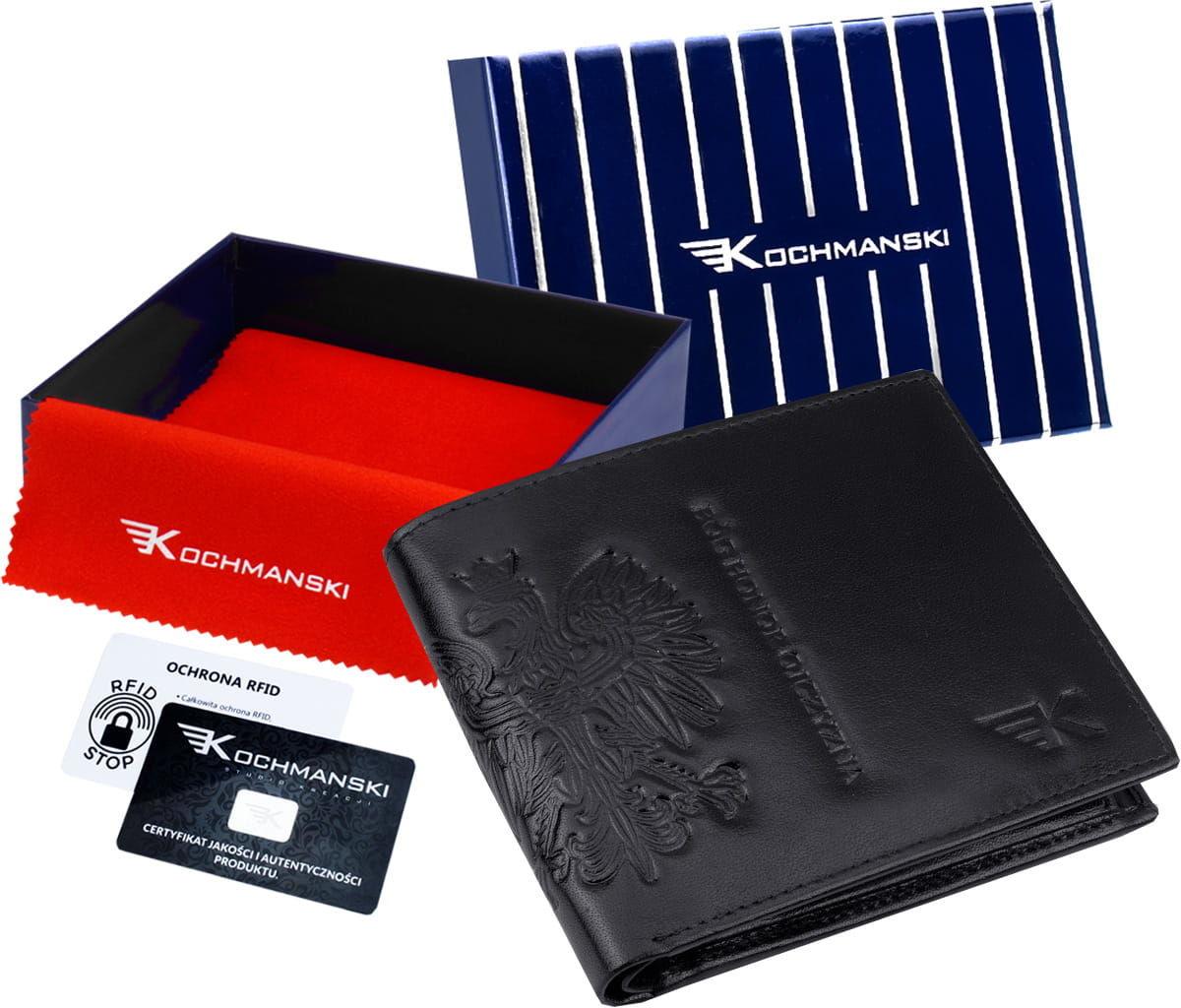 KOCHMANSKI skórzany portfel męski PREMIUM mały 3055