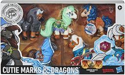 Hasbro E9736E48 My Little x Dungeons & Dragons kolekcja Crossover Cutie Marks & Dragons  5 inspirowanych D&D figurkami Pony Action, z wyjątkiem kostki D20