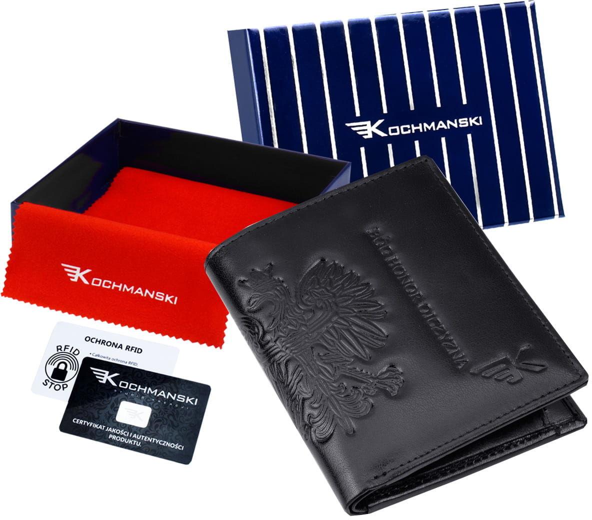 KOCHMANSKI skórzany portfel męski PREMIUM mały 3056
