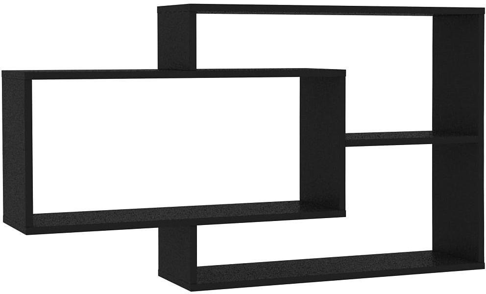 Zestaw czarnych półek ściennych - Acker