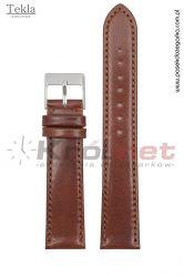 Pasek TK120BR/18XL - brązowy, gładki
