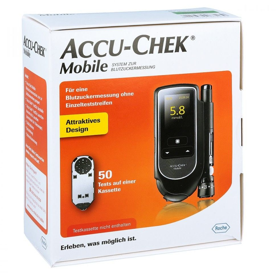 Accu Chek Mobile Set glukometr mmol/l Iii