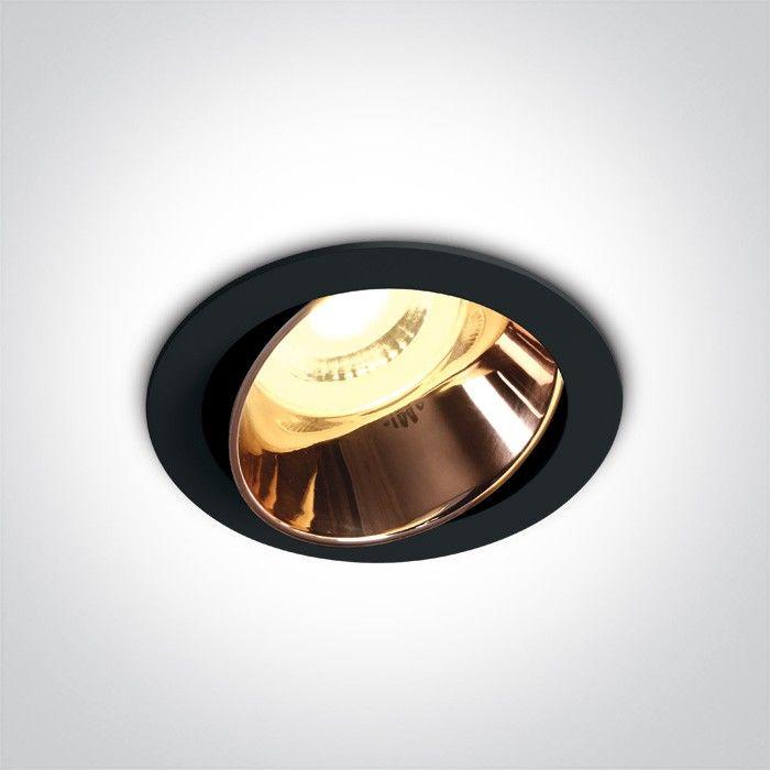 Oprawa podtynkowa regulowana Vitali czarno miedziana 11105M/B/CU - OneLight // Rabaty w koszyku i darmowa dostawa od 299zł !