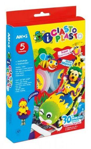 CiastoPlasto AMOS 5 kolorów x18g IC6PAL