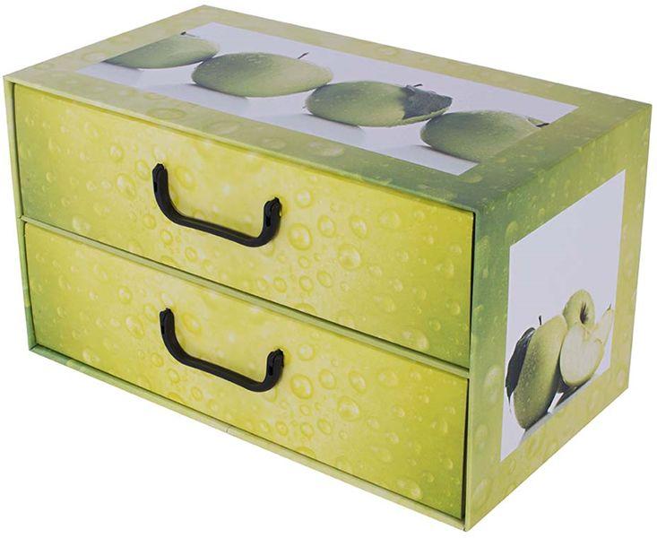 Pudełko kartonowe 2 szuflady poziome OWOCE JABŁKO