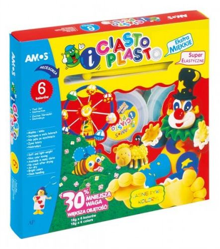 CiastoPlasto AMOS 6 kolorówx18g IC6PT