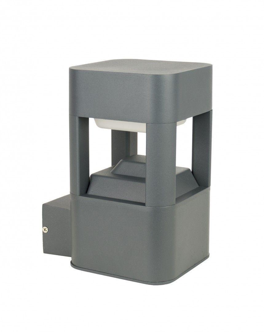 Kinkiet elewacyjny Fan kwadrat IP54 antracyt FKW-K100 - Su-ma Do -17% rabatu w koszyku i darmowa dostawa od 299zł !