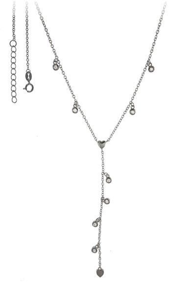 Srebrny naszyjnik 925 krawatka 3,2g cyrkonia