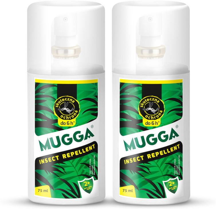 2x Mugga Classic Spray 9,5% DEET. Środek, preparat na komary dla ludzi.