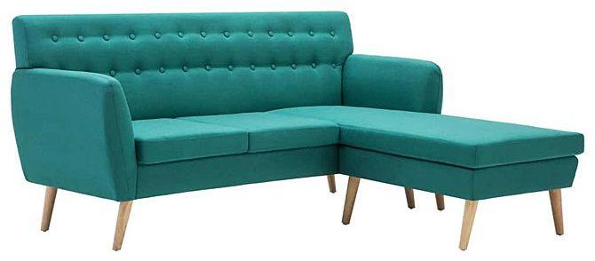 Tapicerowana pikowana sofa Larisa 2G - zielona