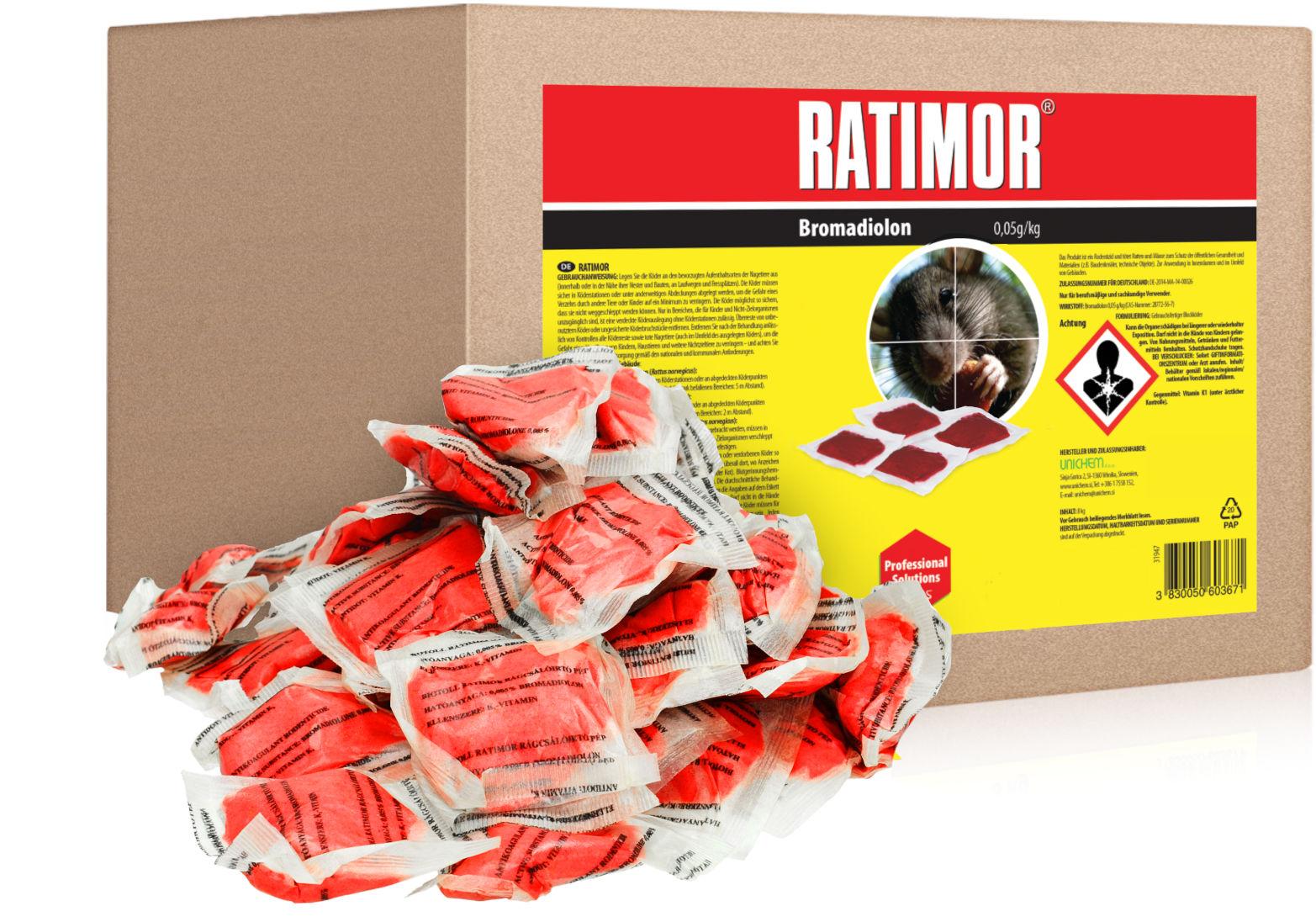5kg Trutka na szczury, myszy, gryzonie. Ratimor bromadiolone pasta.