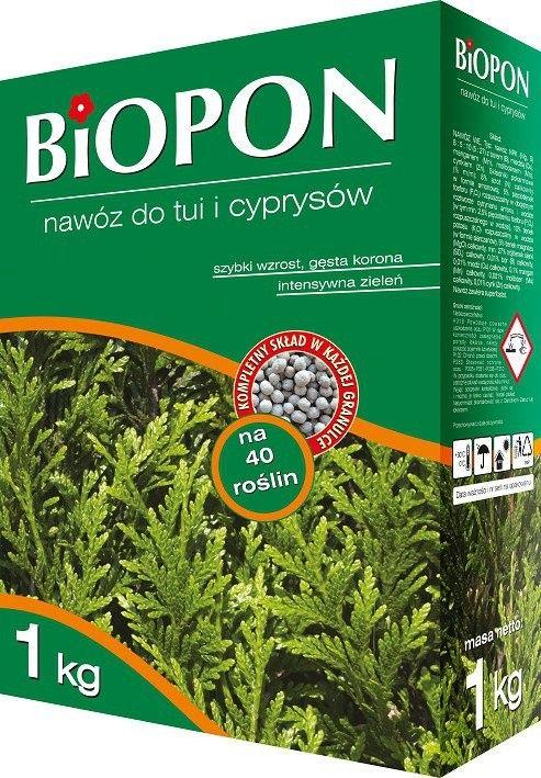 Biopon Nawóz do tui i cyprysów 1kg 403500