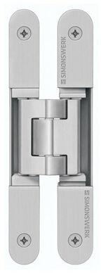 Zawias do drzwi wewnętrznych TECTUS TE 240 3D N kolor F2/nikiel mat