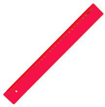 Leniar Linijka kolorowa 30cm czerwony plastik