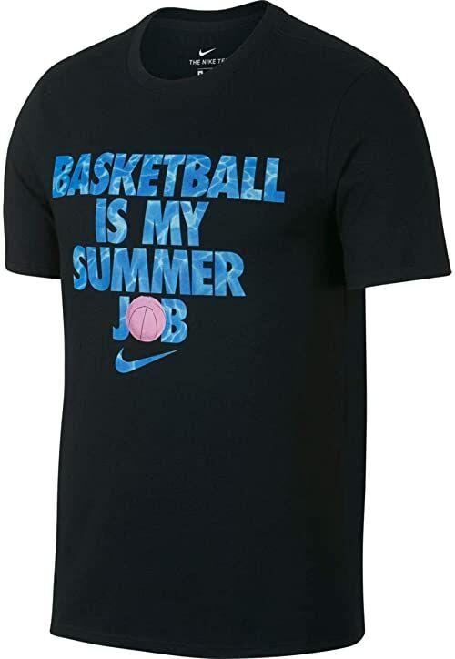 Nike koszulka męska Dri-Fit Koszykówka lato Praca T-shirt Czarny S