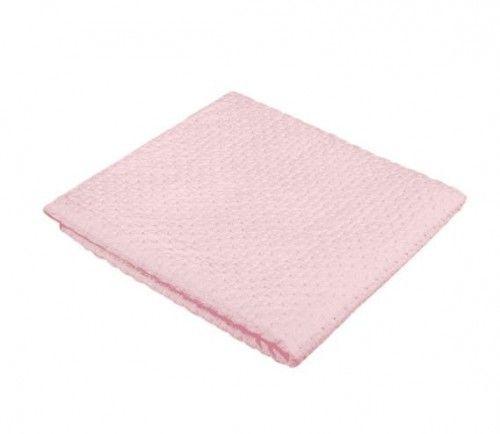 Akuku Kocyk 100% bawełniany Różowy